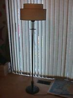 VINTAGE 1950s FLOOR LAMP WITH MULTI TIER SHADE