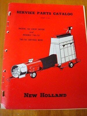 1956 New Holland Model 705 730 731 760 761 Grain Drying Bin Service Parts Manual
