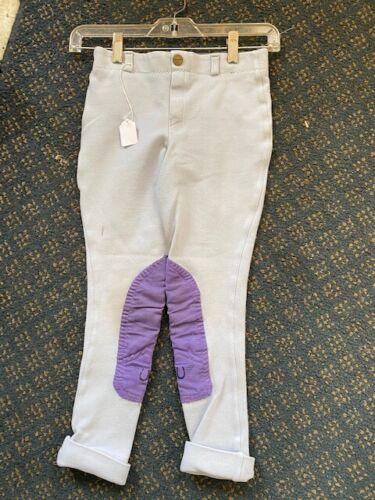 TUFFRIDER Jodhpurs Violet* Youth  sz 10 VGC w/ Cuffs Pull On VGC