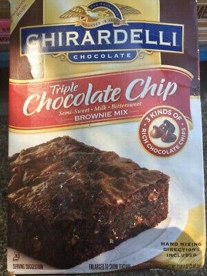 Ghirardelli Triple Chocolate Chip Brownie Mix, 120-Ounce / 7.5 lbs Chocolate Chip Brownie Mix