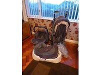 SilverCross 3d pram travel system pushchair car seat