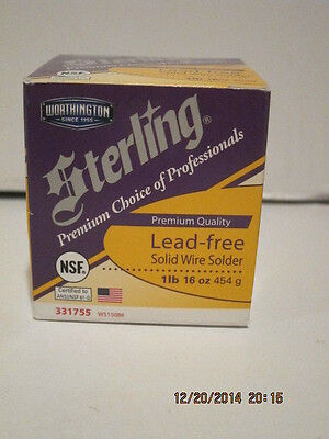Lenox Sterling Solid Wire Solder Premium Lead Free 1lb Ws15086 Made In Usa Fsp