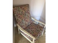 Aztec print occasional chair