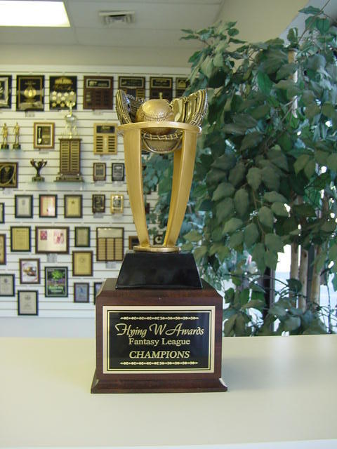 FANTASY BASEBALL PERPETUAL TROPHY 16 YEARS NEW DESIGN AWESOME LARGE STYLE