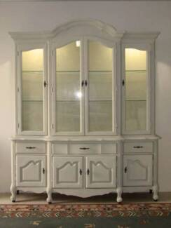 Large French inspired Glass Display Cabinet Varsity Lakes Gold Coast South Preview