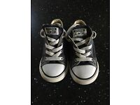 Converse trainers - navy blue size 8
