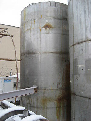 5300 Gallon Stainless Steel Vertical Tank.