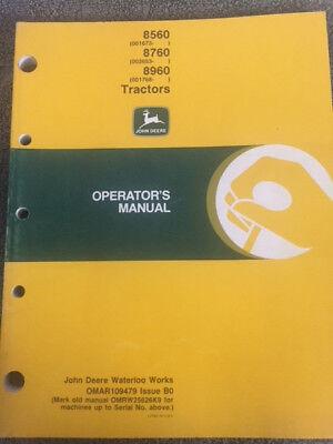 John Deere 8560 8760 8960 Tractor Operator Manual Omar109479 Issue B0