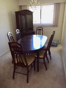Vintage Solid Walnut Dining Room Set