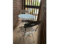FABB JOHN LEWIS GARDEN TABLE AND TWO CHAIRS
