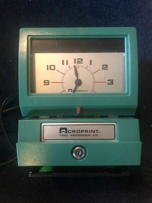 Vintage Acroprint Time Recorder For Parts Or Repair Clock 125qr4 Instructions