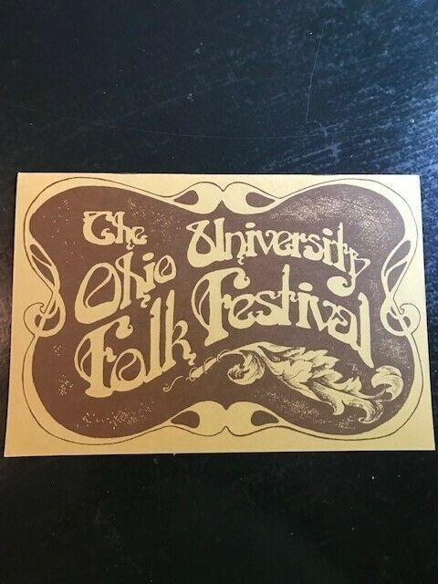 Original Ohio University Folk Festival Program 1972 Athens, Ohio