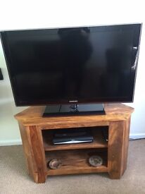 Beautiful solid oak TV cabinet