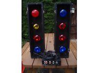 DISCO LIGHTS SET 4s (8x BULBS)WITH PULSAR SC4000 CONTROLLER- MEGA BRIGHT