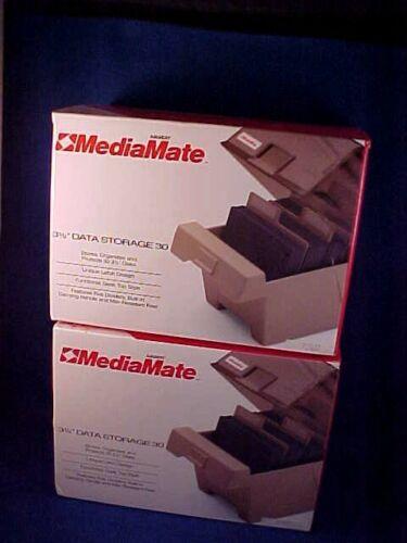 """2 - New MediaMate Floppy Disk Cases, 3 1/2"""" Storage Model 14320 each holds 30"""
