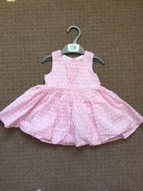 Next Baby Girl Pink Dress Size 3-6 months