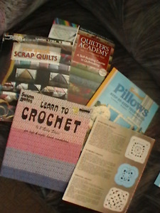 knitting and crochet books and accesseries