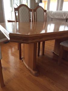Solid oak 12 piece dining set
