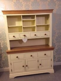 Oak Furniture Land Natural Oak and Cream Welsh Dresser