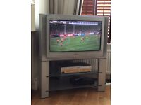 Sony Trinitron 30 inch TV with stand . Collect Fulham