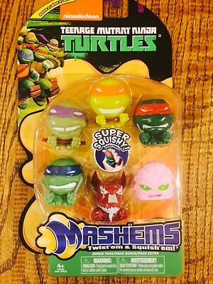 *NEW* LIMITED EDITION Complete  6 piece TMNT  mashems-fashems gift set (Mlp Fashems)