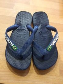 Navy blue authentic Havaiana flip flops