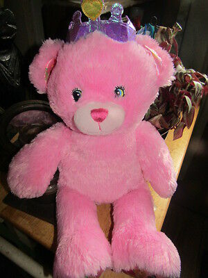 - Build A Bear Disney Princess Collection Pink Bear With Crown Sings Birthday Song