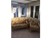 Two Seater Sofa and Two Armchairs - ideal conservatory