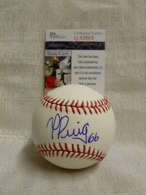 Yasiel Puig Signed Los Angeles Dodgers Major League Baseball JSA Q62663