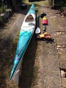 Mirage 580 Sea kayak with 1.5m Pacific Action sail Mount Nebo Brisbane North West Preview