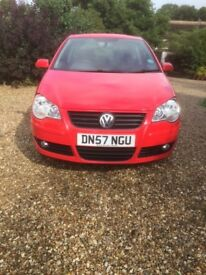 VW Polo S 11/07 (57). 1200cc in RED. Excellent 1st car.