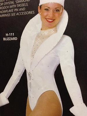 Christmas Winter Dance Costume Parade Halloween Showgirl Pageant White Blizzard](Dance Costumes Halloween)