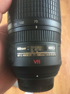 Nikon AF-S Nikkor 70-300mm 1:4.5-5.6 G ED VR Lens (AS IS)