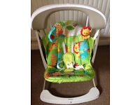 Baby bouncer - Fisher-Price Rainforest Take Along Swing and Seat Set - like new
