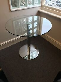 Small round glass table