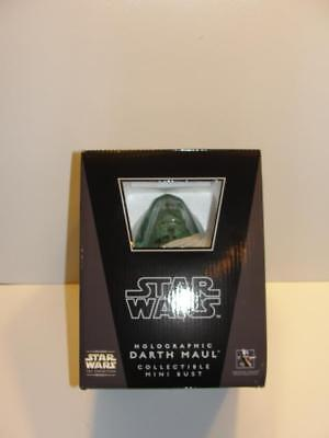 Star Wars Gentle Giant Holographic DARTH MAUL Mini Bust 647/2500 MIB