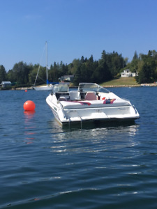Reduced - 19 Ft 1989 Sunray with 3.7 LX Mercruiser  Plus Trailer