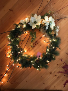 Large Christmas Wreath with Lights