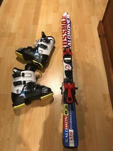 Ski enfant 110mm et bottes grandeur 267mm