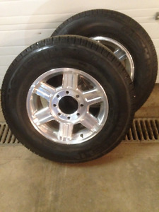 "Dodge 17"" aluminum 8 bolt  rims"