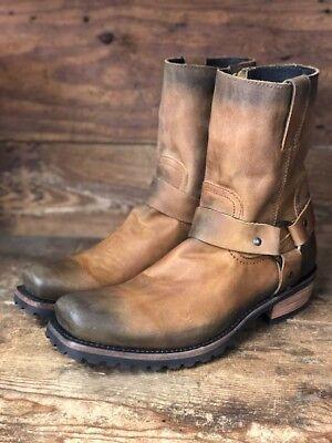 Square Toe Harness Boot (Liberty Black Men's Tan Square Toe Harness Boot)