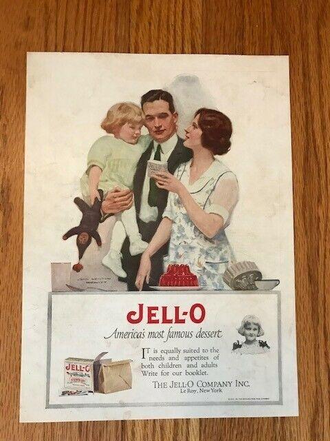 Vtg 1923 (?) Jell-O Jello gelatin dessert advertisement print ad
