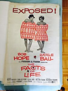 ) Vintage 1960 Movie poster - Bob Hope & Lucille Ball (I love Lu