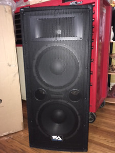 "Seismic Audio Dual 12"" Inch PA DJ Loud Speaker 600 - 1200 Watts"
