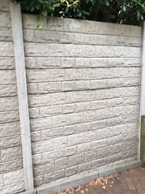 FREE TO TAKE AWAY - 93 CONCRETE FENCE PANELS