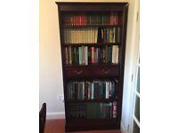 John Coyle Solid Mahogany Bookcase For Sale