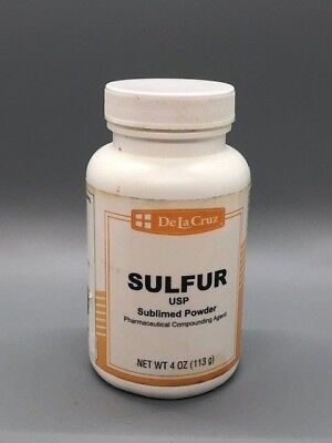 De La Cruz Pure Sulfur Powder Usp Grade 4 Oz.