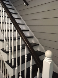 Rampe d'escalier style colonial .