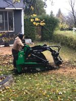 Post Hole Digging and Stump Removal Service