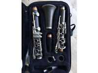 Beginners Clarinet with case, book and bag